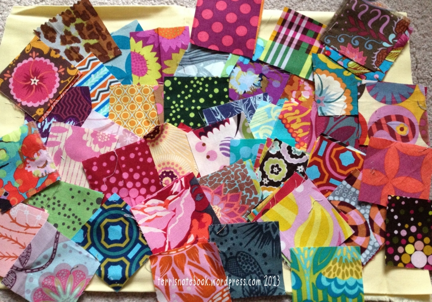 Peace Baby Scrap Squares