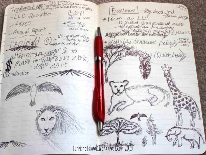 sketchbook africa animals