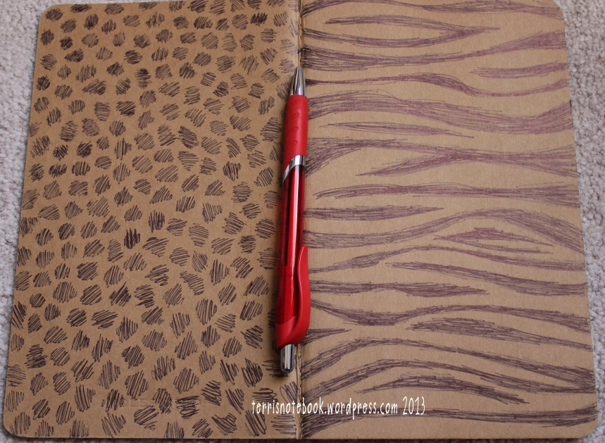 sketchbook cover animal print