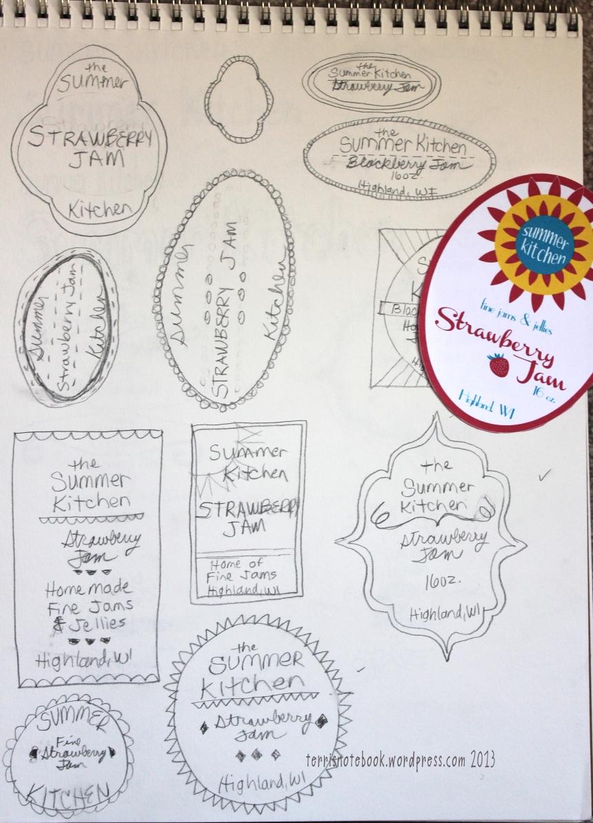 summer kitchen sketches