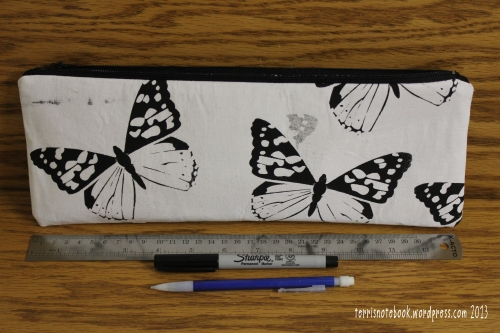 butterfly pencil pouch back