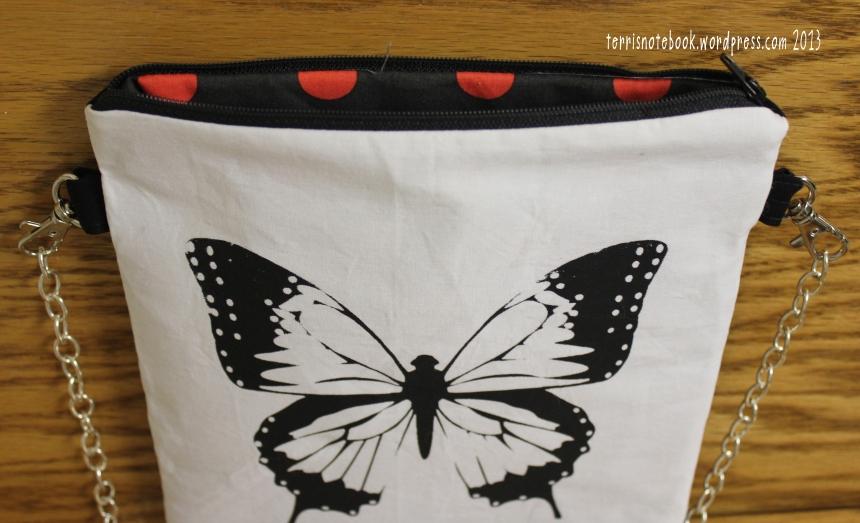 butterfly purse lining