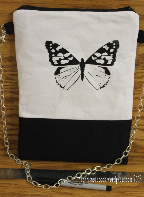 butterfly purse back