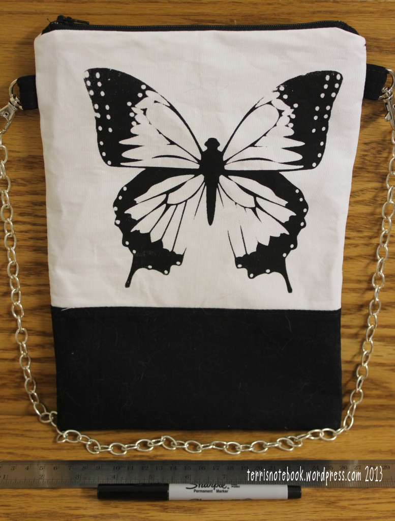 butterfly purse front