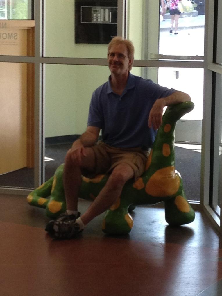 Dave on a dinosaur
