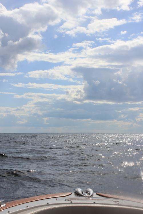 boating at sea