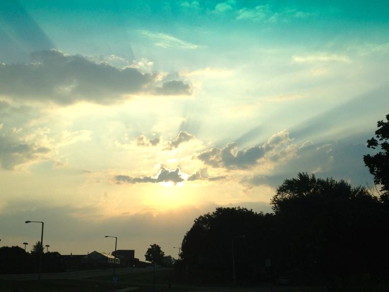 cool sky at sunrise