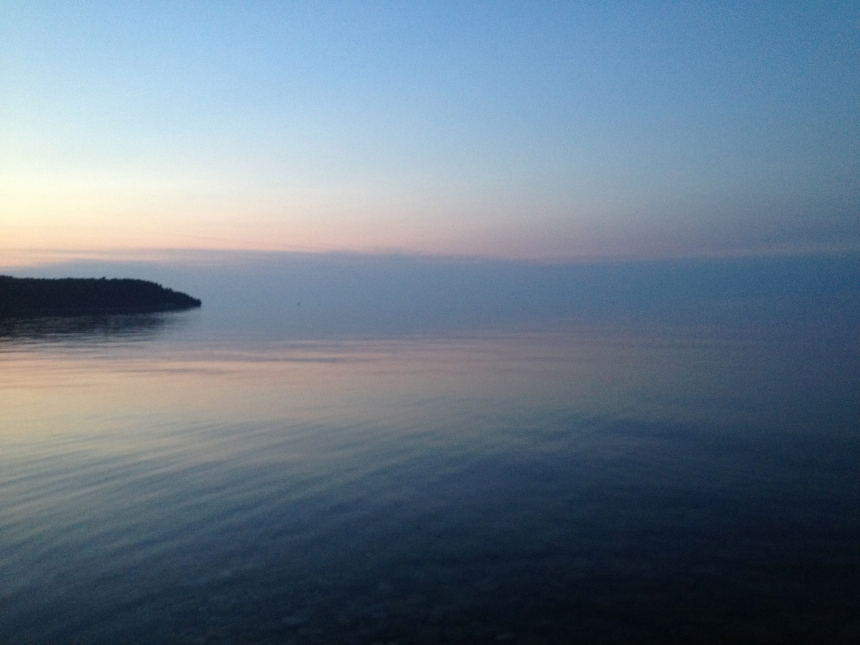 sunset - no horizon line