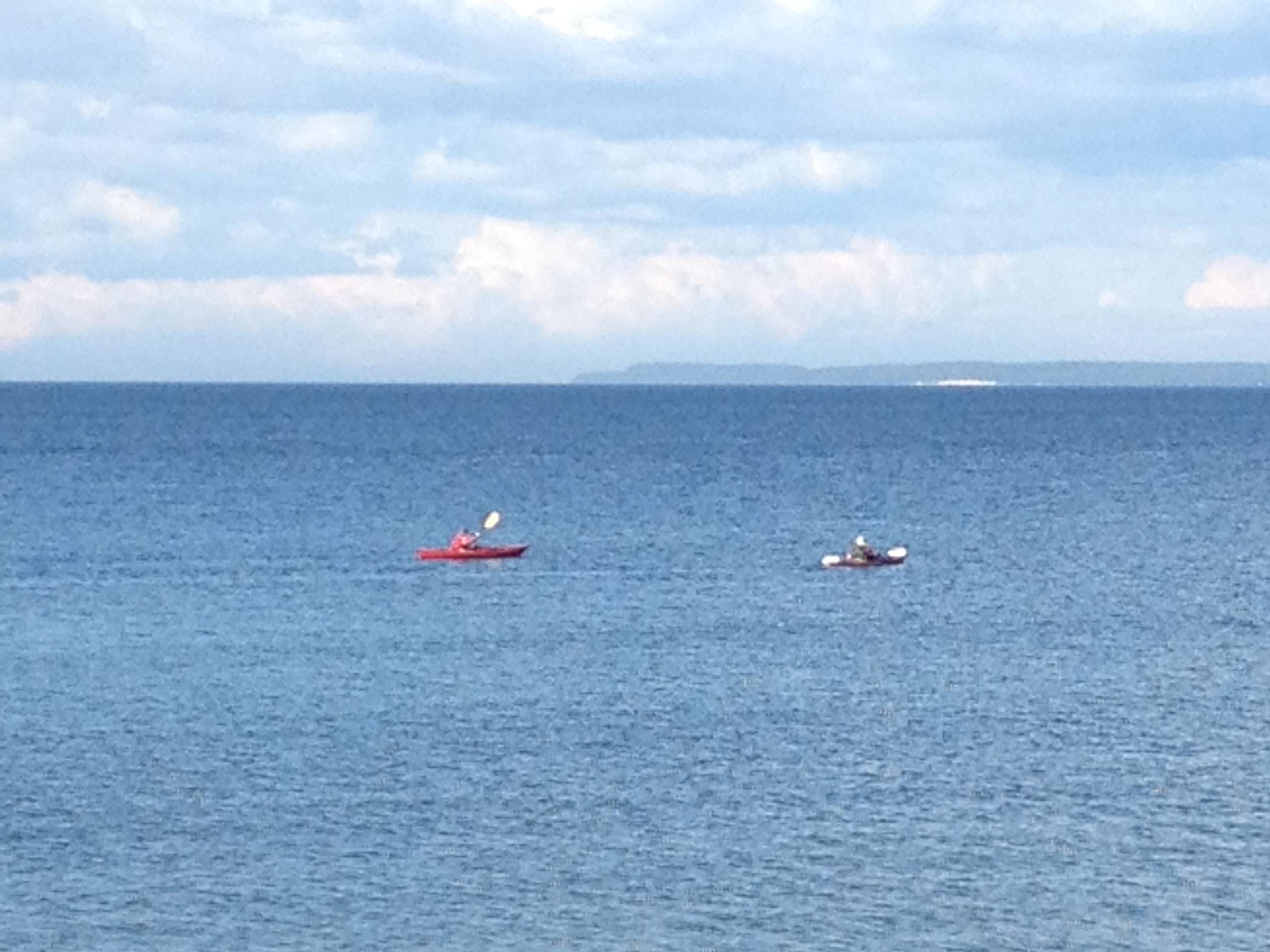 kayaking in Garrett Bay