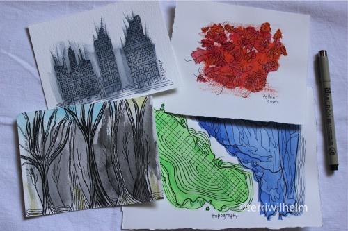 inkblot illustrations