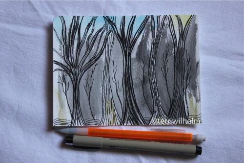 winter trees illustration