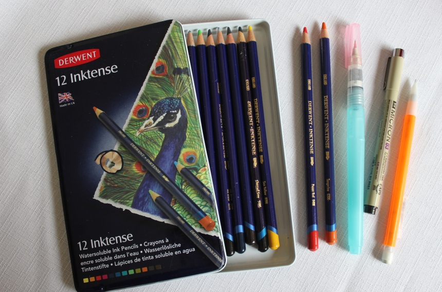 inktense watercolor pencils