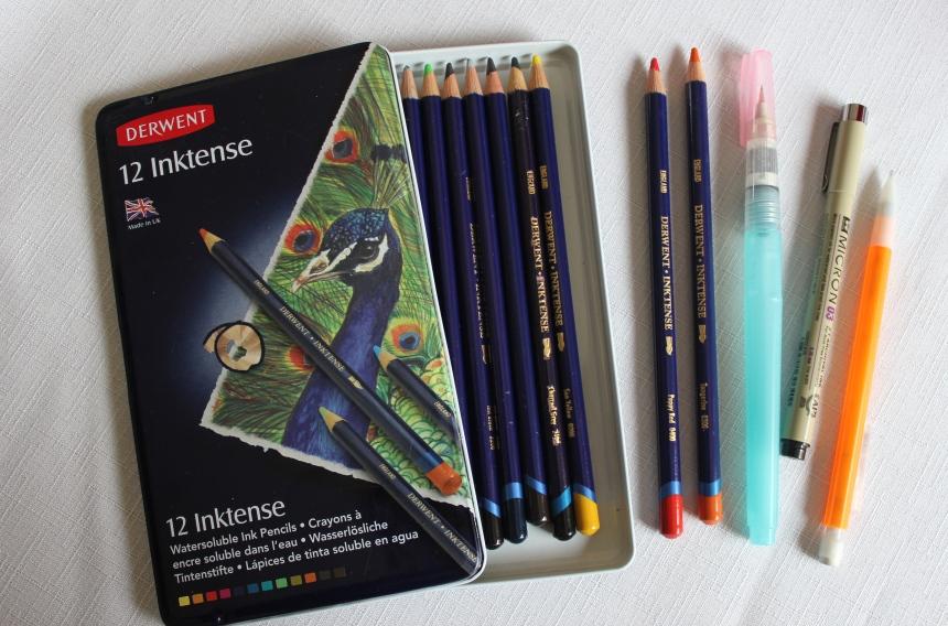inktense watercolor pencils