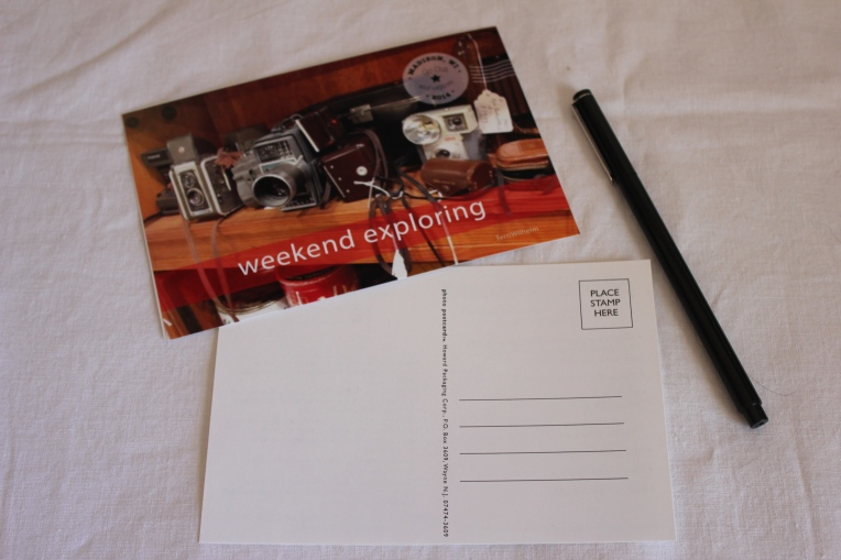 weekend exploring postcard