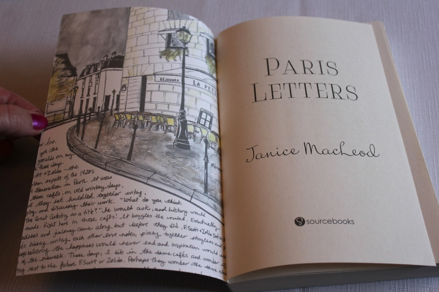 Paris Letters inside front cover