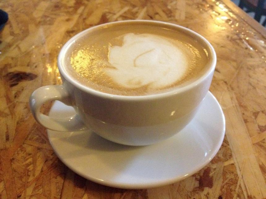 vanilla latte at Barriques