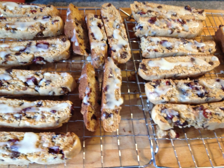 biscotti with glaze