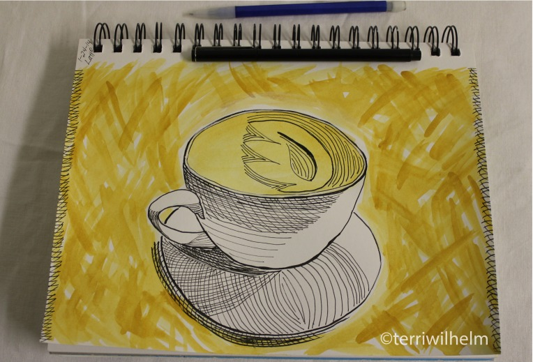 sketchbook page latte