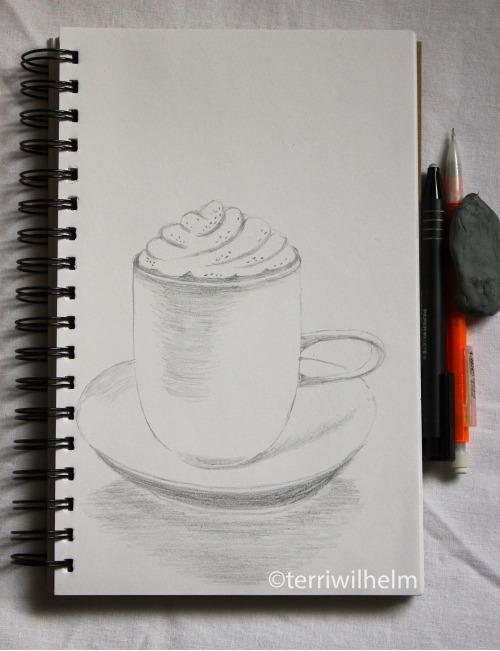 sketchbook pumpkin spice latte