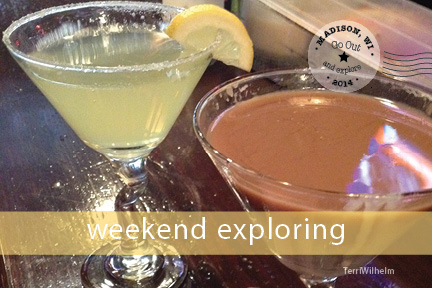 Weekend Postcard martinis