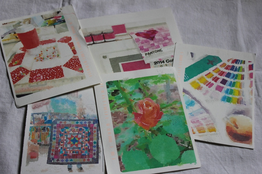 Watercolor postcards from Cindy