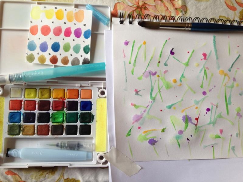 sketchbook watercolor streaks