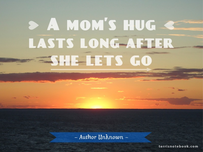 Quote Poster Mom's hug