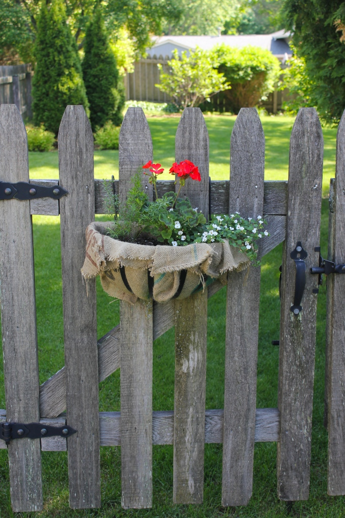 new garden gate basket