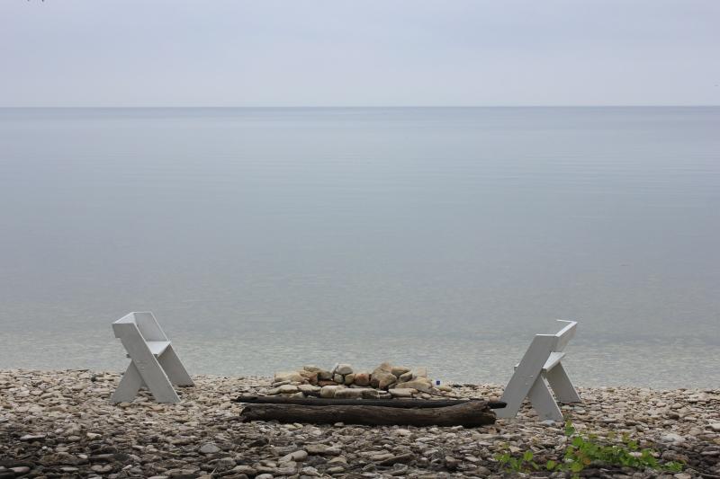 beach front in Door County