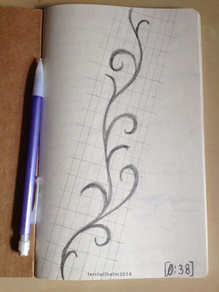 sketchbook swirls on a fret
