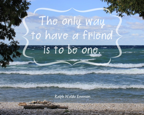 be a friend quote