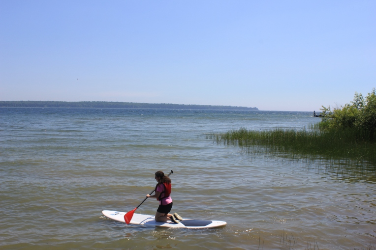 marykay on a paddleboard