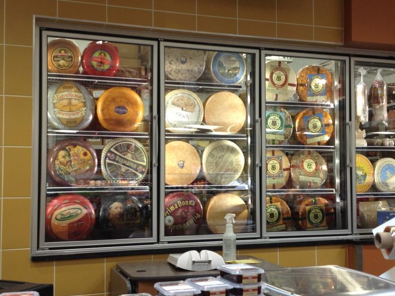 cheese wheels at HyVee