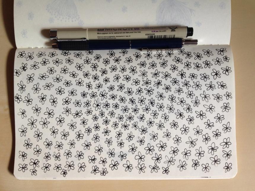 sketchbook flower doodles