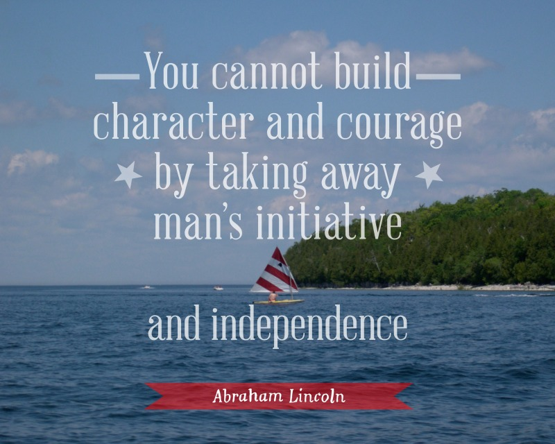 Independence quote poster