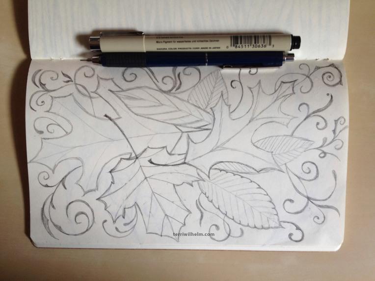 sketchbook forest floor