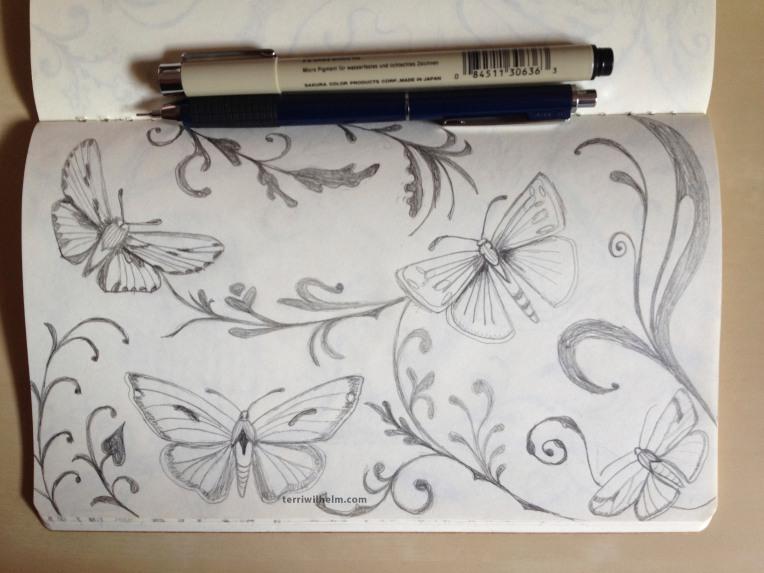 sketchbook moths