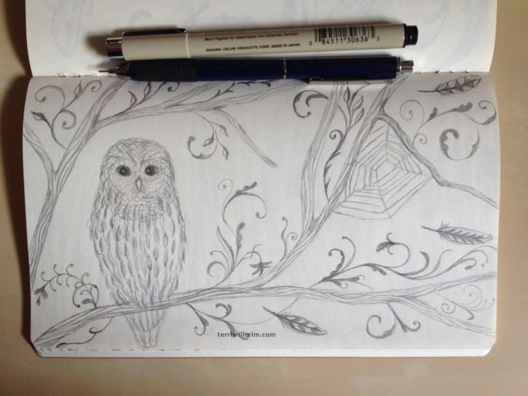 sketchbook owl