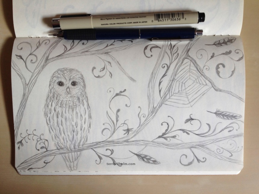 sketchbook owl