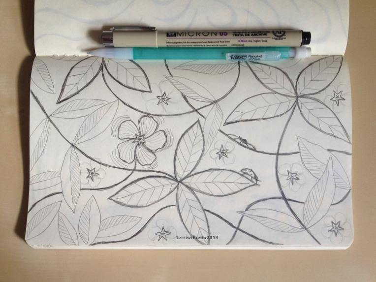 sketchbook vinca vines