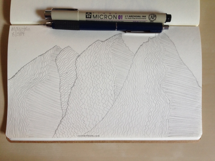 Sketchbook Day 2-mountain