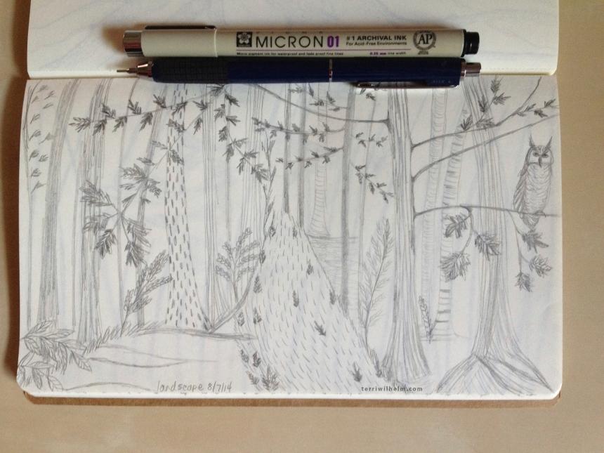 Sketchbook Day 4-landscape