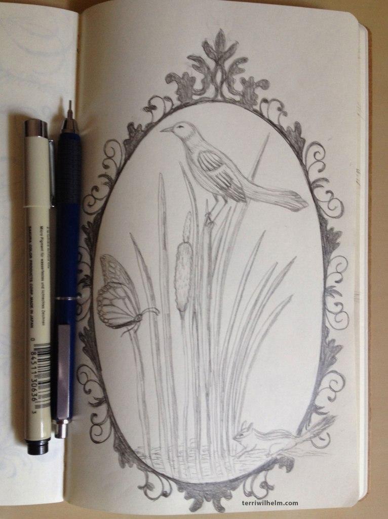 sketchbook critters frame