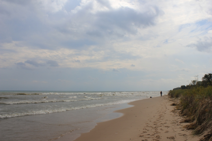 the beach at Lake Michigan