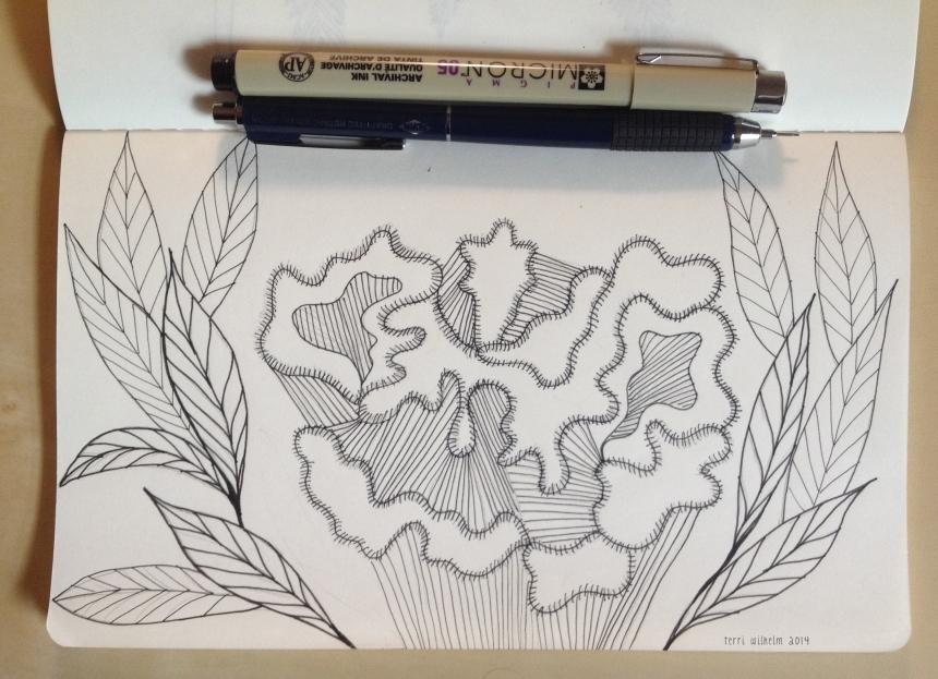 sketchbook cockscomb