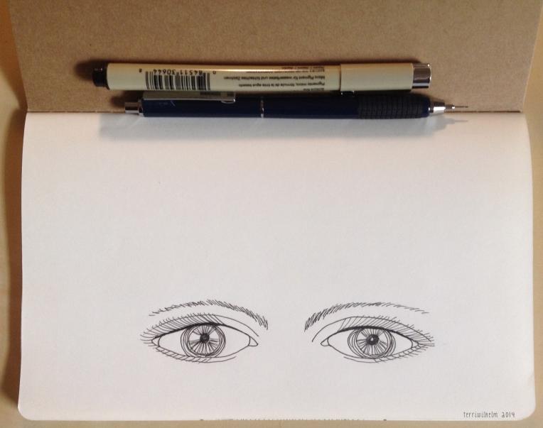 sketchbook eyes