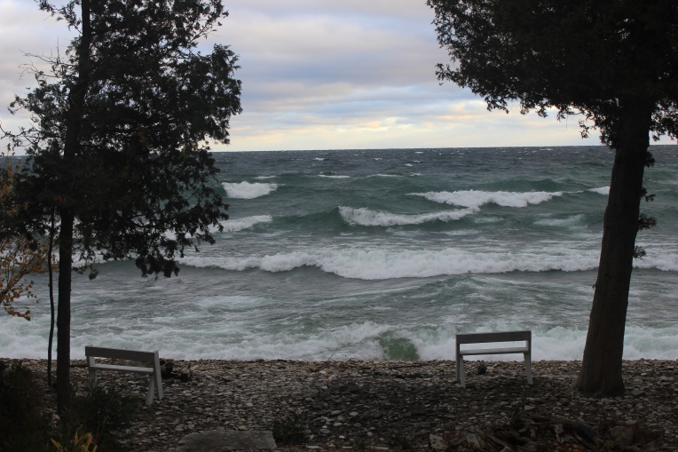 Door County - big waves