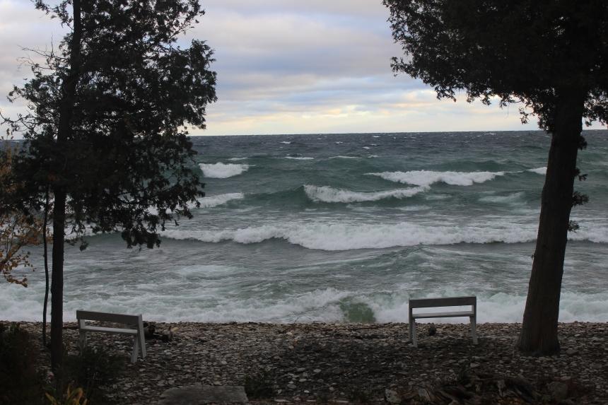 Door County - big waves