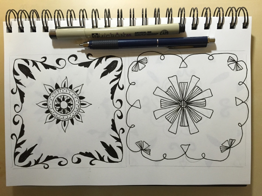 sketchbook medallion motifs