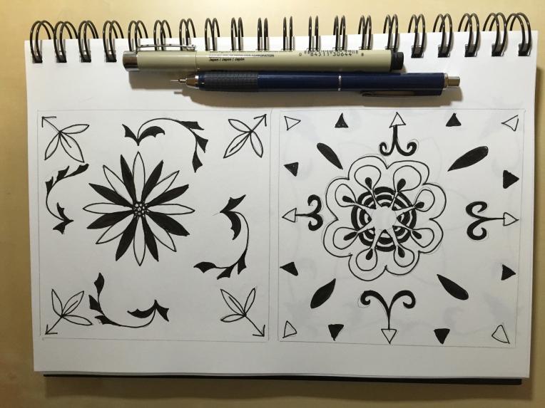 sketchbook medallion motifs